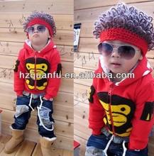 Moda estilo de rock locos sombreros para niños