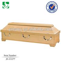 classic hardwood ash cheap wooden coffin box