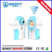 Alta definición CMOS audio y grabación de vídeo 380TVL de dos vías habla inalámbrica bebé monitor de CCTV kit de la cámara BS-W216