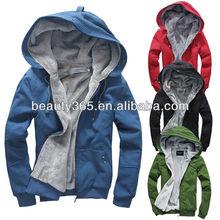 New Men's Plush Thick Warm Hoodie Overcoat Winter Coat Fleece & Men's Cotton Padded Jacket Men Jackets