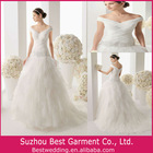 Spectacular V Neck Off The Shoulder A Line Tiered Skirt My Lady Wedding Dresses Best00111144wd