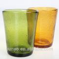 de color diferente de la burbuja pesado beber vaso de vidrio