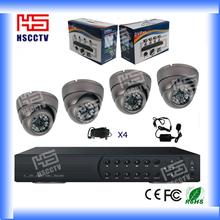 Caliente venta! Alta definición 4CH DVR Kit de largo alcance sistema de cámaras de cctv