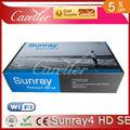 Receptor de satélite nenhum prato sunray sr4 a8p cartão sim para o software de dreambox 800 hd se de sunray dm800se triplo sintonizador receptor wi-fi