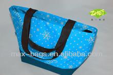 220D PU snow printed cooler bag for picnic