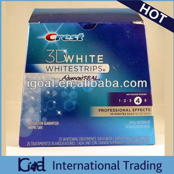 CREST 3D WHITESTRIPS PROFESSIONAL White Teeth Whitening 1 box 20 pouches 40 STRIPS WHITESTRIPS