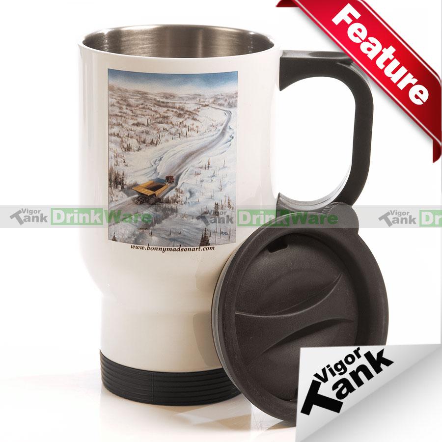 Stainless Steel Mug Sublimation Stainless Steel Full White Mug