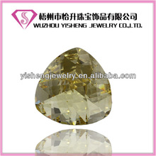 Yellow Triangle Cut Large Faceted Gemstones