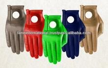 100% Top premium grade cabretta leather golf gloves