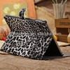No.5 Leopard design leather case for iPad Air--grey,brown,linght brown