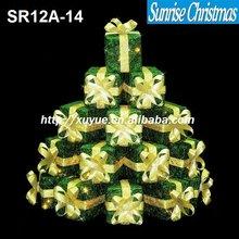 LED Lighted Christmas gift box stack ( MOQ: 200PCS,GS/CE/UL) SR12A-14