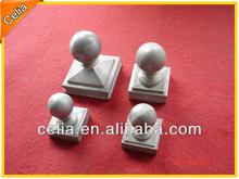 Cast aluminium metal fence post ball tops