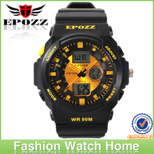 High quality factory price fashion dual time men watches digital sport watch perfect water