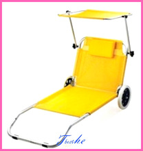 whlesale picnic bbq beach ultra-light fashion chairs loungers carts chaise lounge recliner bed furniture with cushion canopy