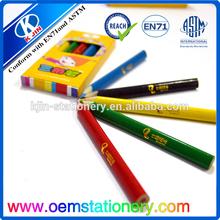 3.5'' top wood mini color pencil/color pencil/small color pencil for student