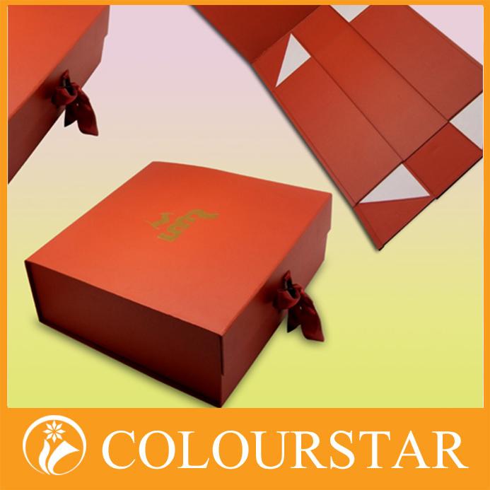 Fashionable flat pack foldable paper box, View foldable paper box ...