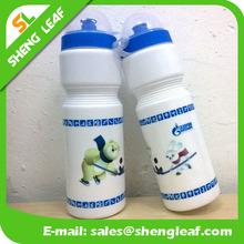Plastic water bottle blue sports bottle