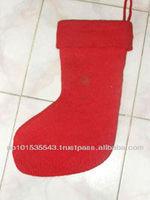 100% made by Felt Christmas Stocking,felt shoes and felt slipper