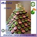 Custom 6 tier praça cupcake papelão exibição, atacado cake stands de acessórios