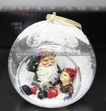 decorativo appeso xmas palla di vetro con la magia della neve xmas decorazione