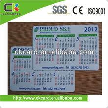 full color pocket size calendar card