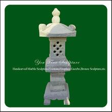 Japanese garden decor natural stone lamp post