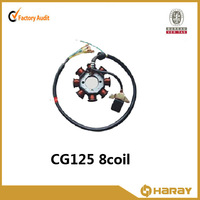 Chinese High Performance 8 coil stator for CG125 Motorcycle