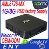 Factory supply mx key box dual core android mini pc EM6