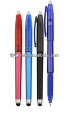 Plastic erasable gel ink pen