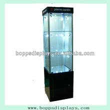 Wood and glass display mall kiosk furniture