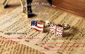 distintivo de amizade anel de noivado do reino unido e eua bandeira do exército dos eua anel