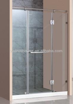 simple hotel use frameless hot sale shower screen