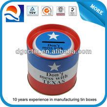 custom design small empty tin can money box