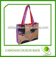 Beautiful in color pvc coat cotton bags