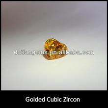 Top qulity stunning heart golded yellow zircon rough