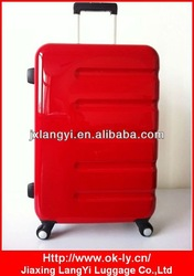 Fashion abs+pc high quality trolley luggage,trolley travel bag case
