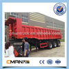 cheap price 3 axle Hydraulic End Tipper Trailer for sale