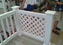 PVC Large lattice decorative fence supplier