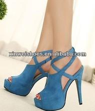 Fashion ladies model sandal high heel