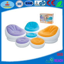 Inflatable Cafe Chaise Chair with Ottoman