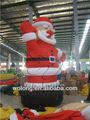 Productos inflables de navidad/inflable santa claus hloding bolsa de regalo