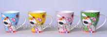 Ceramic Factory Produce Cartoon Animal Printed Tea Mugs Cups
