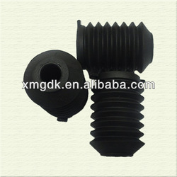 OEM custom rubber bellow corrugated pipe flange rubber bellow