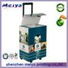 Custom printed portable cardboard trolley box with lid,cardboard trolley case