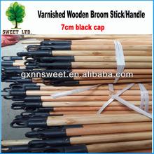 Varnish wood broom stick