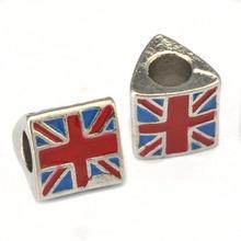 zinc alloy UK flag denameled wholesale beads
