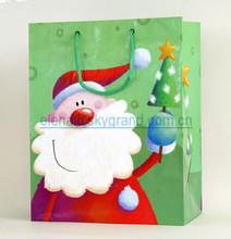 Christmas brown paper gift bag, Santa, aluminium foil paper bag