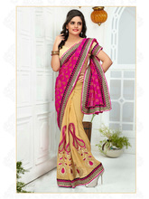 Indian Embroidery Shimmer Fabrick Saree