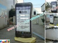 2013 printing inflatable mobile,custom iphone model made by pvc tarpaulin