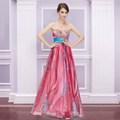 2013 nova moda floral impresso bordado império strapless linha long maxi de formatura baile vestido de festa he09820hp